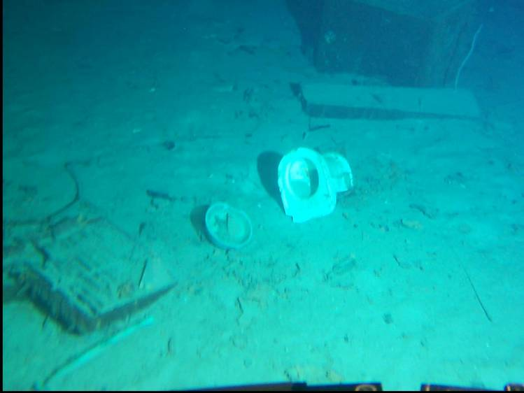 on ocean floor 2.35 miles below Atlantic -- lots of ...